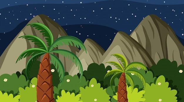 Moutain jungle achtergrond scène