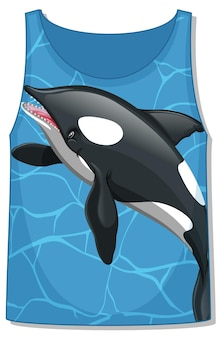 Mouwloos mouwloos mouwloos topje met orka-walvispatroon