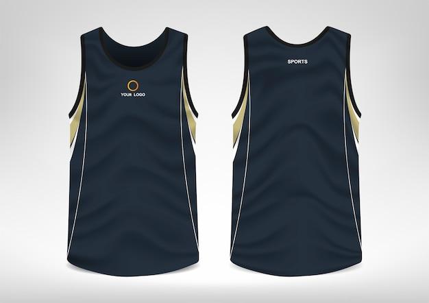 Mouwloos sport-t-shirtontwerp