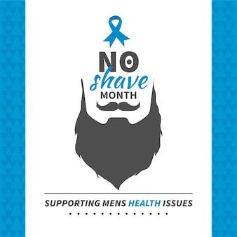 Movember-achtergrond in uitstekende stijl