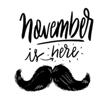 Movember achtergrond met belettering