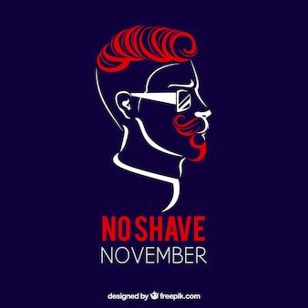 Movember achtergrond met oranje informatie