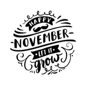 Movember-bewustzijn met letters