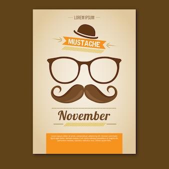 Movember boekje met oranje informatie