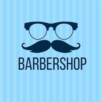 Movember-concept in plat ontwerp