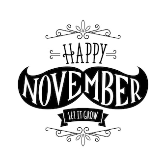 Movember concept met letters