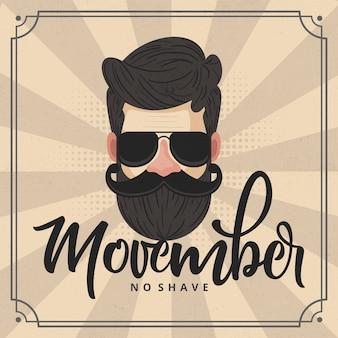 Movember-concept met vintage design