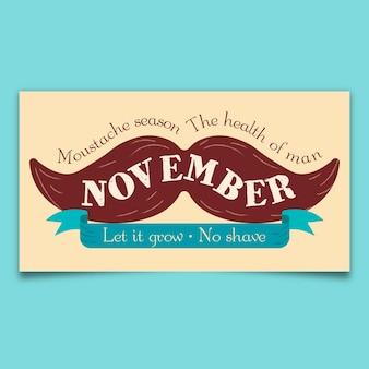 Movember kaart ontwerp