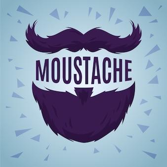 Movember maand platte ontwerp achtergrond