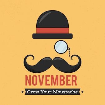 Movember mannen gezondheidsconcept