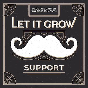 Movember ontwerpachtergrond met snor