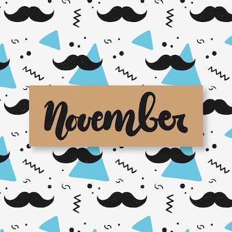 Movember patroon achtergrond