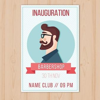 Movember poster sjabloon met zijaanzicht van platte man