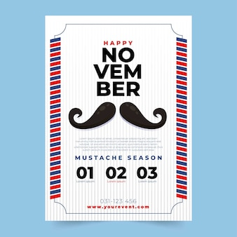 Movember snor postersjabloon