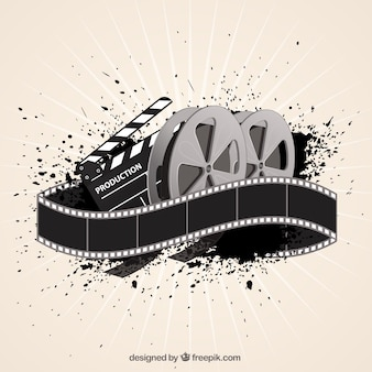 Movie film achtergrond in abstracte stijl