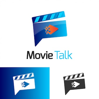 Movie talk logo vector