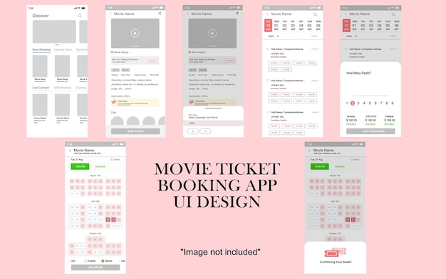 Movie ticket ui mockup