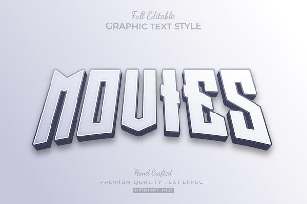 Movies clean bewerkbare teksteffect-lettertypestijl