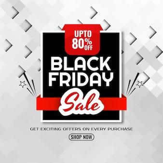 Mozaïek patroon plat ontwerp zwarte vrijdag verkoop achtergrond