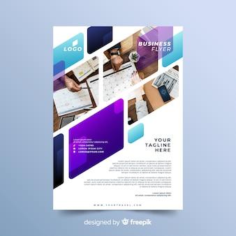 Mozaïekontwerp voor zakelijke flyersjabloon