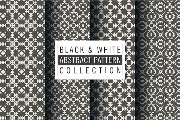 Mozaïekpatroon in zwart-witte kleur