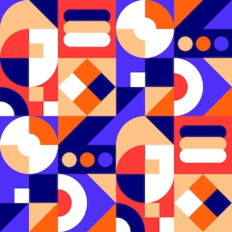 Mozaïekpatroon met plat ontwerp
