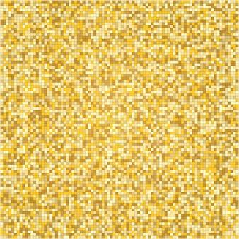 Mozaïektextuur met gouden halftoonpatroon.