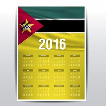 Mozambique kalender van 2016
