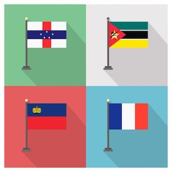 Mozambique liechtenstein frankrijk vlaggen