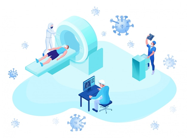 Mri-scan van 2019-ncov coronavirus-patiënt