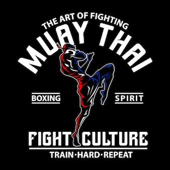 Muay thai voor grafische afdruk
