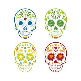 Muerte schedel vector ontwerp