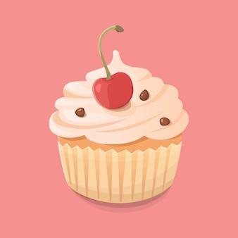 Muffin-pictogram vectorillustratie in cartoon-stijl