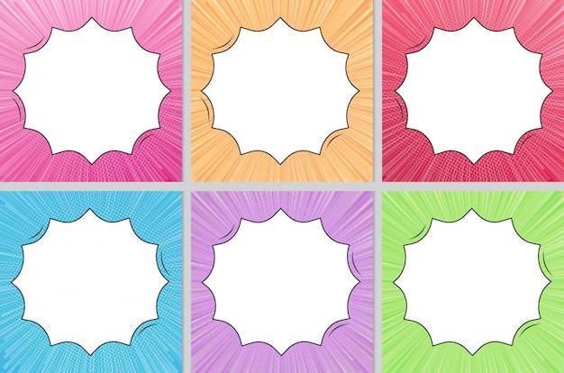 Multi kleuren komische stijl achtergrond met kopie ruimte collectie