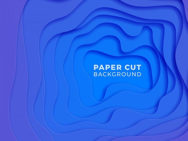 Multi-layer kleurrijke realistische papercutachtergrond.