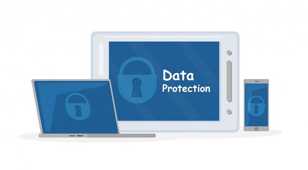 Multi-platform antivirus app illustratie