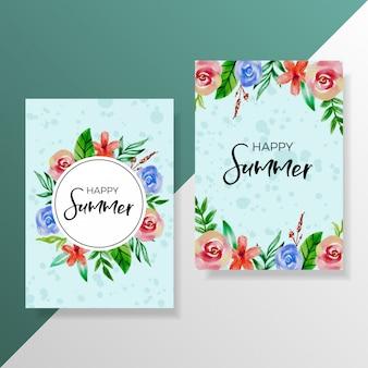 Multi purpose card brochure flyer zomer viering