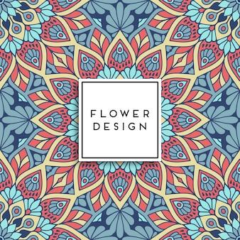 Multicolor bloemen mandala ontwerp