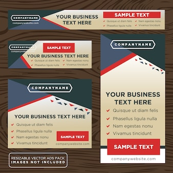 Multicolor business banner