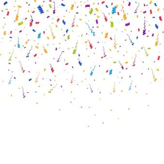 Multicolor confetti burst achtergrond
