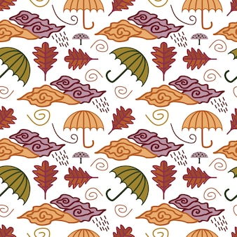 Multicolor de patroonachtergrond van het de herfstseizoen