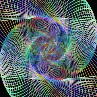 Multicolor fractal achtergrond