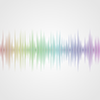 Multicolor geluidsgolf van equalizer