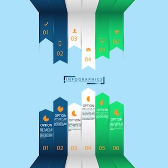 Multicolor infographic ontwerp