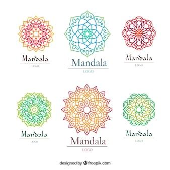 Multicolor mandala logo sjabloon