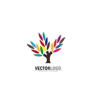 Multicolor tree logo