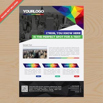 Multicolor zakelijke brochure