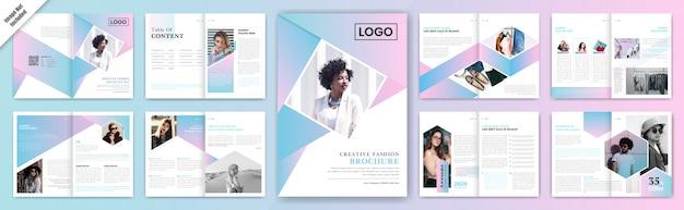 Multifunctioneel brochure template design.