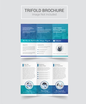 Multifunctioneel driebladig brochureontwerp