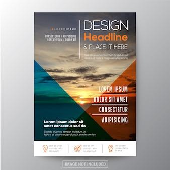 Multifunctioneel sjabloon ontwerp voor flyer folder brochure of boekomslag